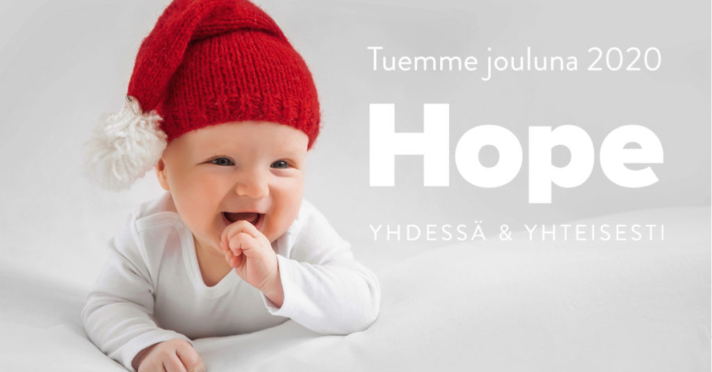 Tuemme jouluna 2020 Hope ry:tä